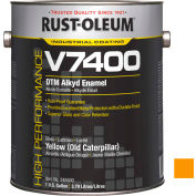 Rust-Oleum V7400 Series <340 VOC DTM Alkyd Enamel, Yellow (Old Catpillr) Gallon Can - 245500 - Pkg Qty 2