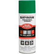 Rust-Oleum Industrial 1600 System Gen Purpose Enamel Aerosol, Emerald Green 16 oz. Can - 257401 - Pkg Qty 6