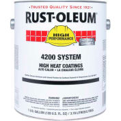 Rust-Oleum 4200/4300 System High Heat Coating, Black Quart Sized Can - 261968 - Pkg Qty 2