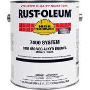 Rust-Oleum V7500 Series <450 VOC DTM Alkyd Enamel, Flat Black Gallon Can - 412402 - Pkg Qty 2