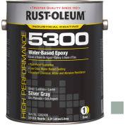 Rust-Oleum 5300 System <250 Voc Water-Based Epoxy Silver Gray 5382408 - Pkg Qty 2