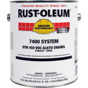 Rust-Oleum V7500 Series <450 VOC DTM Alkyd Enamel, Semi-Gloss Light Neutral Gray Gal Can - 7280402 - Pkg Qty 2