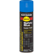 Rust-Oleum High Performance V2100 Rust Preventive Enamel Aerosol, Safety Blue 20 oz. Can - V2124838 - Pkg Qty 6