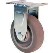 "RWM Casters 27 Series Versatrac 5-1/4""Height, 4"" Cast Iron Wheel, Rigid Caster"