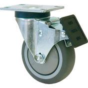 "RWM Casters VersaTrac® 5"" TPR Swivel Wheel Caster with Total Lock Brake - 27-RPB-0512-S-TLB"