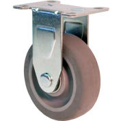 "RWM Casters 27 Series Versatrac 4-1/4""Height, 3"" TPR Wheel, Rigid Caster"