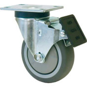 "RWM 27 Series Versatrac 4-1/4""H, 3"" Urethane Polypropylene Wheel w/Face Contact Brake, Swivel Caster"