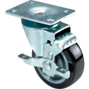 "RWM 27 Series Versatrac 5-1/4""Height,4"" Urethane Polypropylene Wheel with Hub Brake, Swivel Caster"