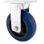 "RWM Casters 6"" Rubber on Iron Wheel Rigid Caster with Side Wheel Brake - 65-RIR-0620-R-WB"
