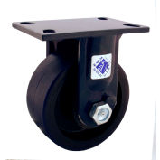 "RWM Casters 75 Series 10-1/8""Height, 3""W, 8"" Cast Iron Wheel, Rigid Caster"