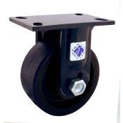 "RWM Casters 75 Series 11-1/2""Height, 10"" Nylatron HD Wheel, Rigid Caster"