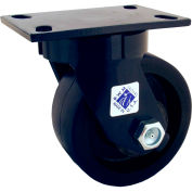 """RWM Casters 75 Series 11-1/2""""Height, 10"""" Urethane on Iron Wheel, Swivel Caster"""