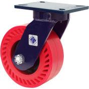 "RWM 76 Series 10-1/2""H, 2-1/2""W, 8"" Urethane on Iron Wheel w/Demountable Swivel Lock, Swivel Caster"
