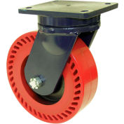 """RWM Casters 96 Series 10-1/2""""Height, 4""""W, 8"""" Forged Steel Wheel, Swivel Caster"""