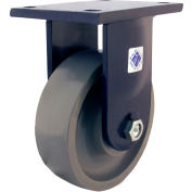 "RWM Casters 96 Series 12-1/2""Height, 3""W, 10"" Urethane on Iron Wheel, Rigid Caster"