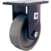 "RWM Casters 96 Series 12-1/2""Height, 4""W, 10"" Urethane on Iron Wheel, Rigid Caster"