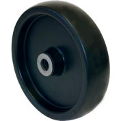 """RWM Casters 5"""" x 1-1/4"""" Polyolefin Wheel with Ball Bearing for 3/8"""" Axle - POB-0512-06"""