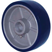"""RWM Casters 5"""" x 2"""" Urethane on Aluminum Wheel with Roller Bearing for 1/2"""" Axle - UAR-0520-08"""