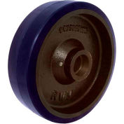 "RWM Casters 4"" x 1-1/2"" Urethane on Iron Wheel with Roller Bearing for 1/2"" Axle, 600 Lbs. Capacity"