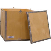 "Global Industrial™ 4-Panel Hinged Shipping Crate with Lid, 18"" x 18"" x 18"" O.D."