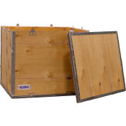 "Global Industrial™ 4-Panel Hinged Shipping Crate with Lid, 24"" x 20"" x 20"" O.D."