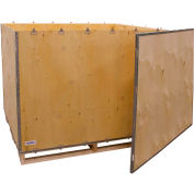 "Global Industrial™ 6-Panel Shipping Crate with Lid & Pallet, 60"" x 48"" x 48"" O.D."