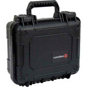 "Condition 1 184 Airtight Watertight Case H184BKF8628AC1 - Black with Foam 10-5/8""x9-5/8""x4-3/4"""