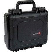 "Condition 1 184 Airtight Watertight Case H184BKF8628AC1 - Black with Foam 10-5/8""x9-5/8""x4-3/4"""