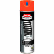 Krylon Industrial Quik-Mark Sb Inverted Marking Paint Fluor. Safety Red - A03613007 - Pkg Qty 12