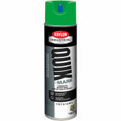 Krylon Industrial Quik-Mark Sb Inverted Marking Paint Fluor. Neon Green - A03614007 - Pkg Qty 12