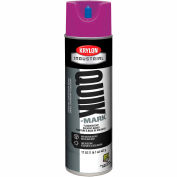 Krylon Industrial Quik-Mark Sb Inverted Marking Paint Fluorescent Purple - A03615007 - Pkg Qty 12