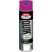 Krylon Industrial Quik-Mark Sb Inverted Marking Paint Fluorescent Purple - S03615 - Pkg Qty 12