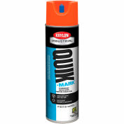 Krylon Industrial Quik-Mark Wb Inverted Marking Paint Fluor. Red/Orange - A03650004 - Pkg Qty 12