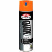 Krylon Industrial Quik-Mark Sb Inverted Marking Paint Fluorescent Orange - S03702 - Pkg Qty 12