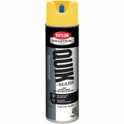 Krylon Industrial Quik-Mark Sb Inverted Mkg Paint Apwa High Vis Yellow - A03821007 - Pkg Qty 12