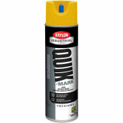 Krylon Industrial Quik-Mark Sb Inverted Marking Paint Apwa Safety Yellow - A03823007 - Pkg Qty 12