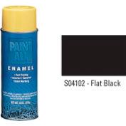 Krylon Industrial Paint-All Enamel Paint Flat Black - S04102 - Pkg Qty 12