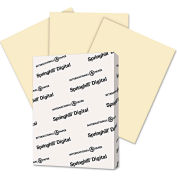"""Springhill® Digital Index Color Card Stock 56100, 8-1/2"""" x 11"""", Ivory, 250/Pack"""