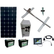 Sun-In-One™ SSLK5 Solar Sign Lighting, Kit 5, 12 Volt 100 Amp Hour AGM battery