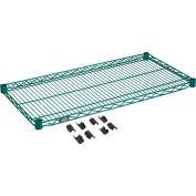"""Nexel® S1836G Poly-Green® Wire Shelf 36""""W x 18""""D"""