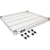 """Nexel® S2124C Chrome Wire Shelf 24""""W x 21""""D"""