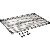 """Nexel® S2436B Black Epoxy Wire Shelf 36""""W x 24""""D"""