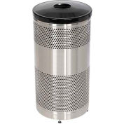 "Can And Bottle Recycling Container, Stainless Steel,25 gal.,18""Dia x 35.5""H"