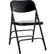 Steel Folding Chair - Black/Black