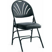 Samsonite Xl Series Steel Fanback Padded Folding Chair, Vinyl Padded Seat & Fanback Black/Black by Folding Chairs