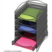 Safco® Steel Mesh Desktop Organizer with 5 Drawers Black