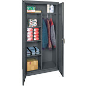 "Sandusky Classic Combination Storage Cabinet CAC1361872-02 - 36""W x 18""D x 72""H Charcoal"