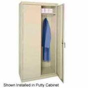 Sandusky Wardrobe Bar-Fits 36x18x72, 36x18x78 Cabinet, Charcoal