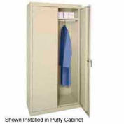 Sandusky Wardrobe Bar-Fits 46x24x72, 46x24x78 Cabinet, Putty