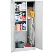 "Sandusky Value Line Janitorial Supply Cabinet EFC1362472-05 - 36""W x 24""D x 72""H Dove Gray"